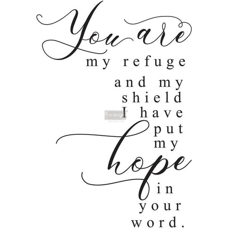 You Are My Refuge  Redesign with Prima Transfer