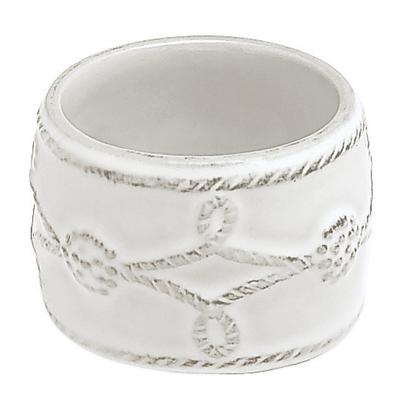 Berry & Thread Napkin Ring - White