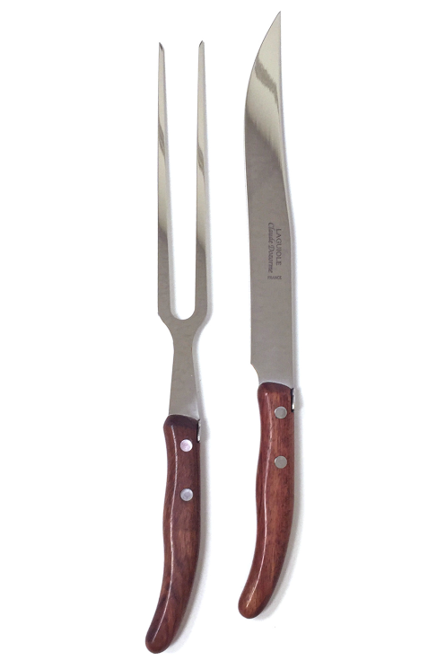 Exotic Wood Handle - 2 Piece Carving Set