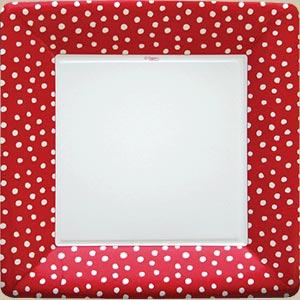 Small Dots Dinner Plate - Red