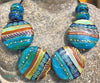 Caribbean Cove Buttons Art Glass Bead Set