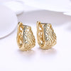 Bohemian Style Filigree Laser Cut Earrings 18K Gold Plated