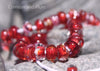 Crimson and Plum Glass Bead Strand