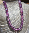 Grape Crystal Glass Bead Strand