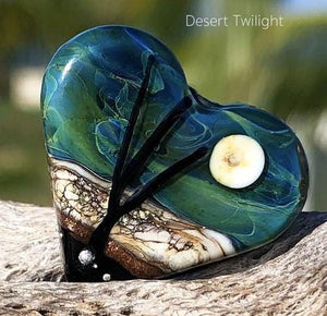 Desert Twilight Art Glass Heart Bead - BajaTiki