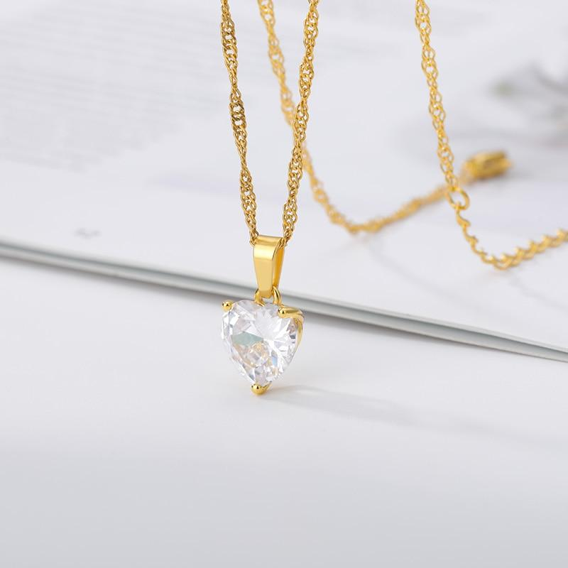Crystal Heart Necklace - REGISAPEX
