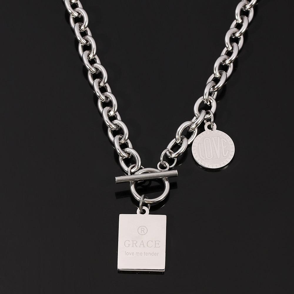 Vintage Square & Mini Coin Chain Necklace - REGISAPEX