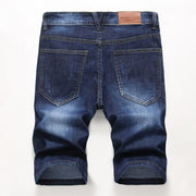 HhhknSolid Hole Denim Shorts Jeans