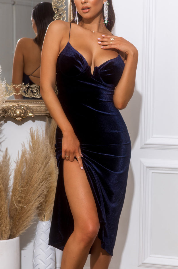 Midnight Lover Dress - Navy
