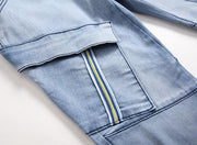 HhhknElasticity Pocket Straight Jeans