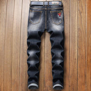 HhhknDistressed Jeans Embroidery Trousers