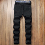 HhhknFuck Love Embroidery Slim Fit Jeans Pant