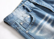 HhhknPersonalized Splash Ink Straight Jeans