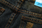 HhhknHole Vintage Long Straight Jeans