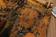HhhknGradient Vintage Personalized Hole Jeans