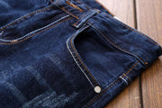 HhhknHole Embroidery Straight Jeans