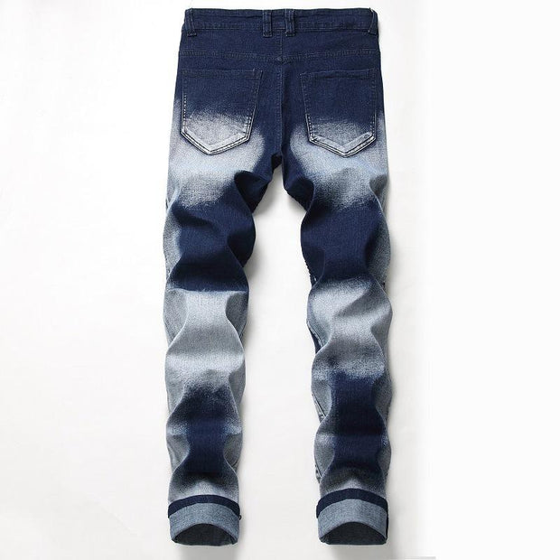 HhhknHole Folds Personalized Jeans