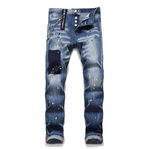 HhhknCasual blue stretch jeans