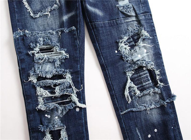 HhhknCasual ripped stretch jeans
