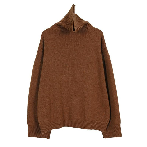Knitted Sweater Turtleneck Casual Long Sleeve - diNeiLa