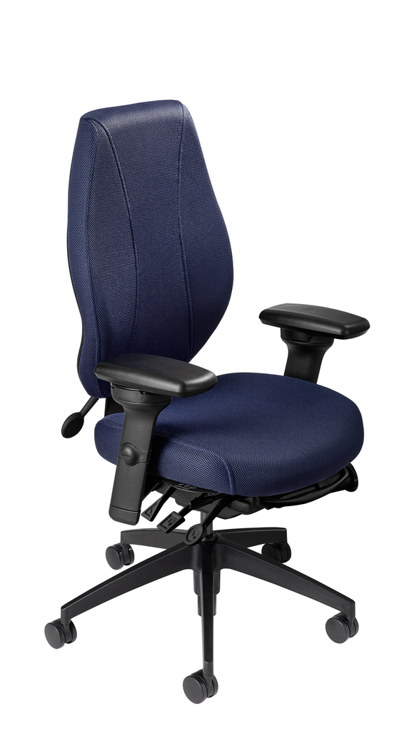 airCentric 2 with Synchro Glide Mechanism, Midnight Black Frame, AirKnit Navy Upholstery
