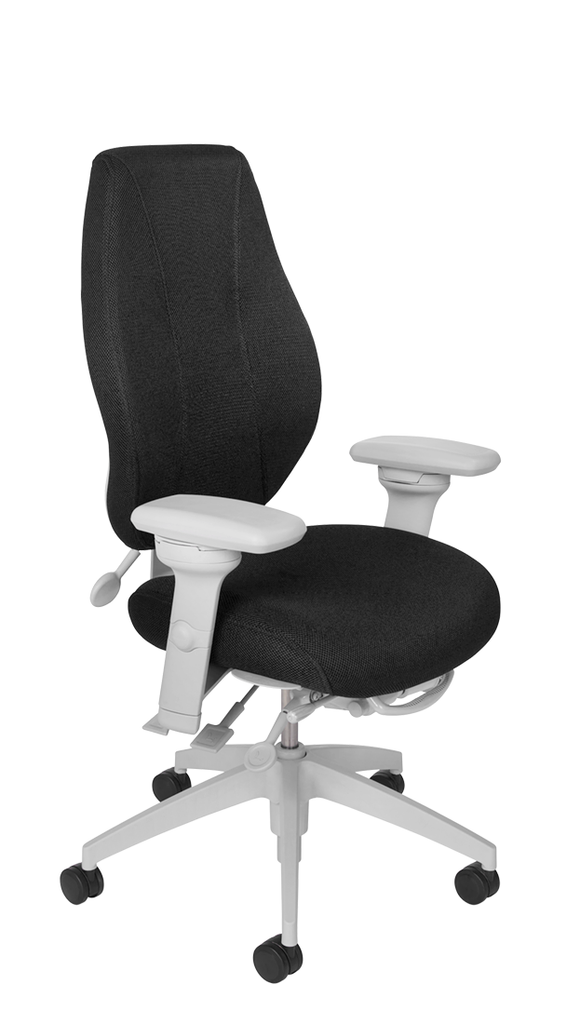airCentric 2 with Multi Tilt Mechanism, Light Grey Frame, AirKnit Black Upholstery