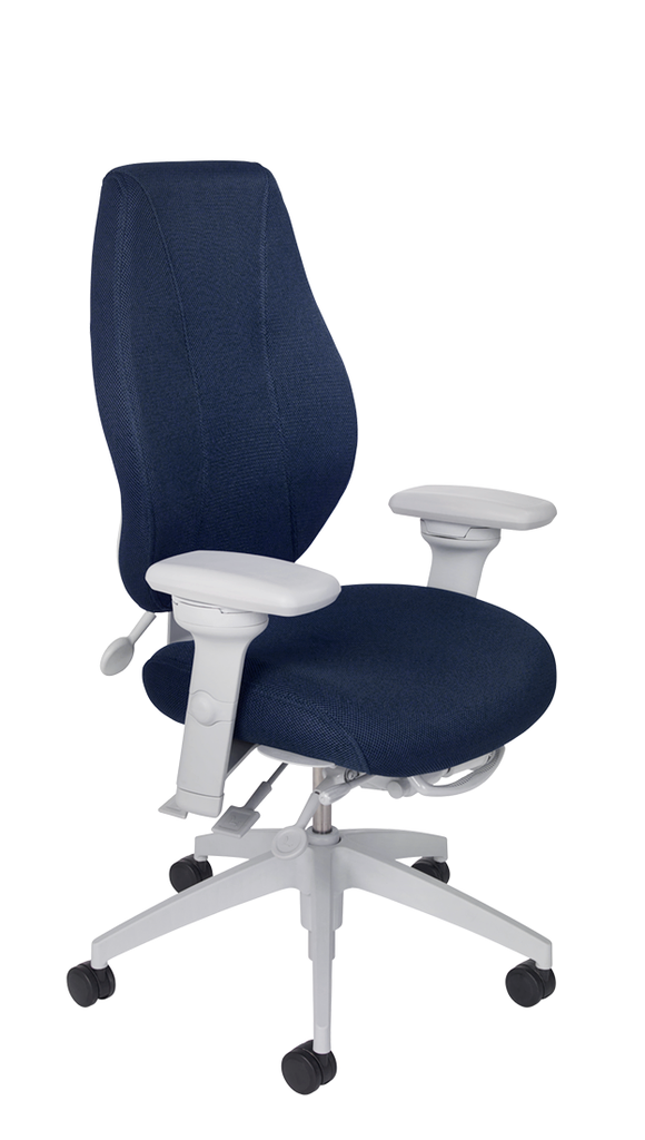 airCentric 2 with Multi Tilt Mechanism, Light Grey Frame, AirKnit Navy Upholstery