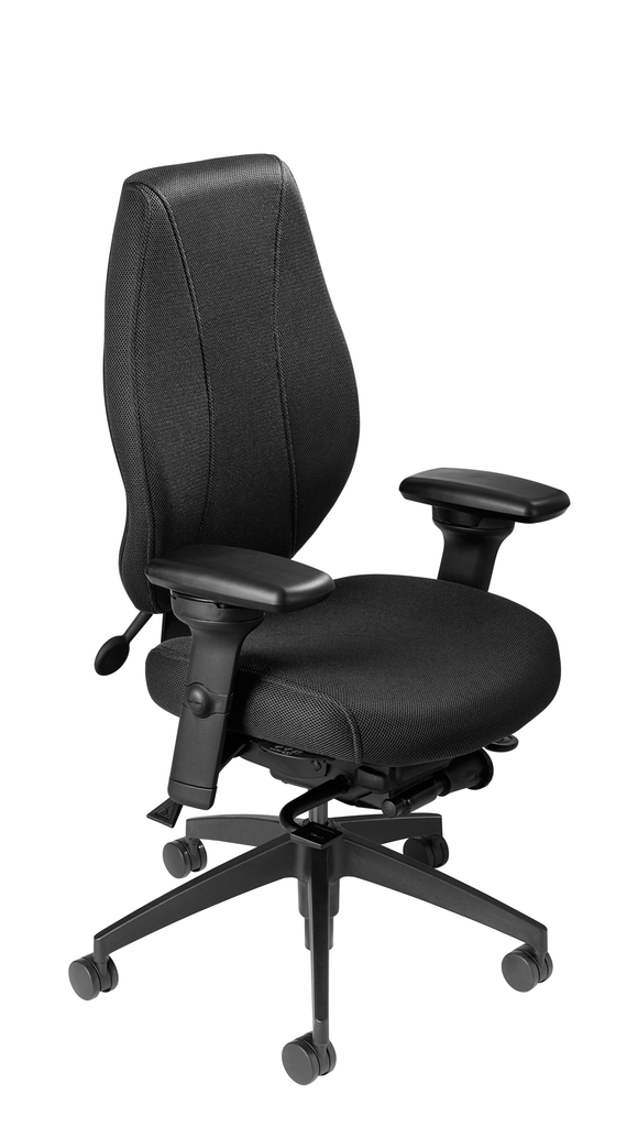 airCentric 2 with Synchro Glide Mechanism, Midnight Black Frame, AirKnit Black Upholstery