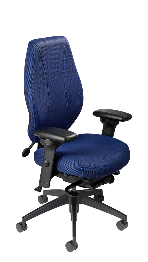 airCentric 2 with Synchro Glide Mechanism, Midnight Black Frame, AirKnit Royal Upholstery