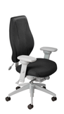 airCentric 2 with Synchro Glide Mechanism, Light Grey Frame, AirKnit Black Upholstery
