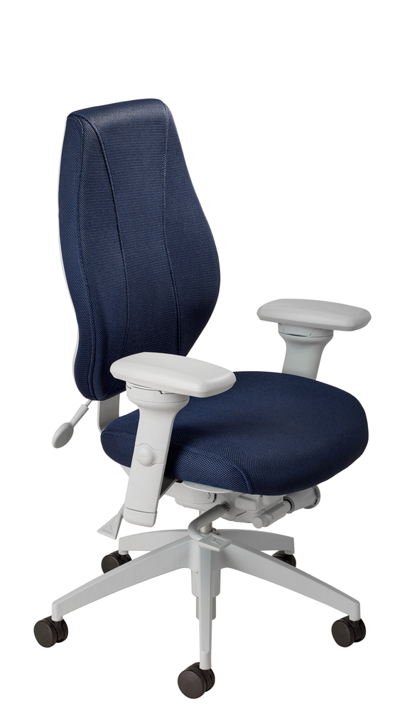 airCentric 2 with Synchro Glide Mechanism, Light Grey Frame, AirKnit Navy Upholstery