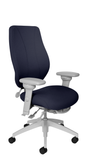 tCentric Hybrid with Upholstered Backrest and Seat, Multi Tilt Mechanism, Light Grey Frame, Open House Midnight Upholstery