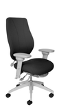 tCentric Hybrid with Upholstered Backrest and Seat, Multi Tilt Mechanism, Light Grey Frame, Open House Onyx Upholstery