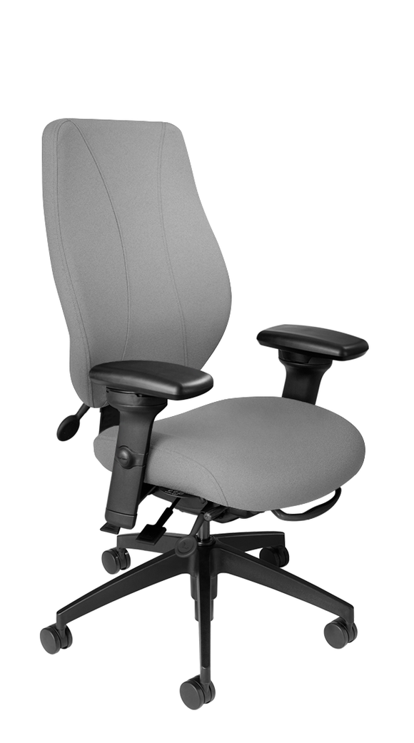 tCentric Hybrid with Upholstered Backrest and Seat, Multi Tilt Mechanism, Midnight Black Frame, Open House Asteroid Upholstery