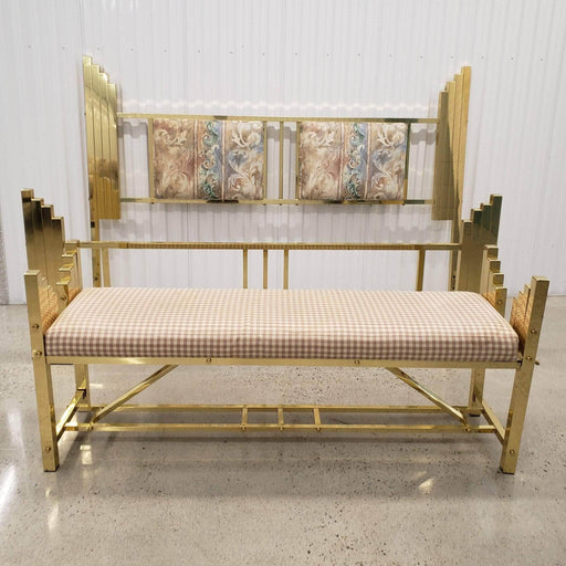 Shop Lendy - Art Deco Brass King Size Bed Frame & Matching Bench - Shop Lendy