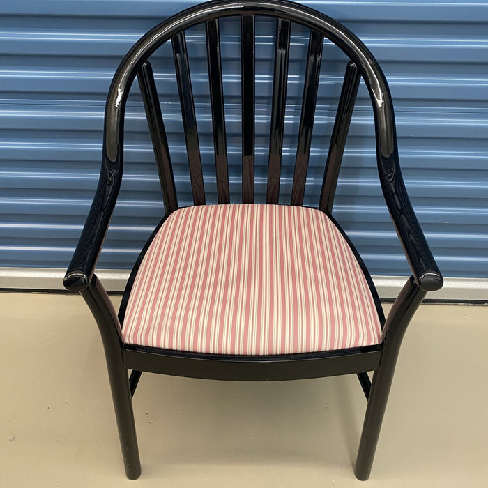 Shop Lendy - Black Chair with Striped Seat - Shop Lendy