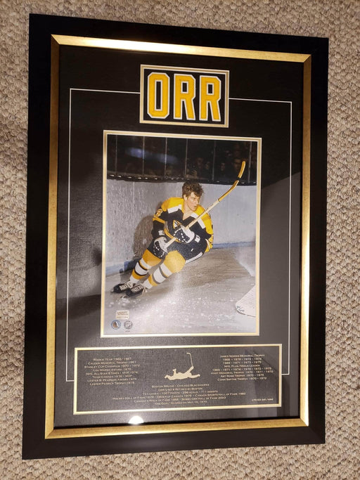 Shop Lendy - Bobby Orr Limited Edition Jersey namebar, museum framed - Shop Lendy
