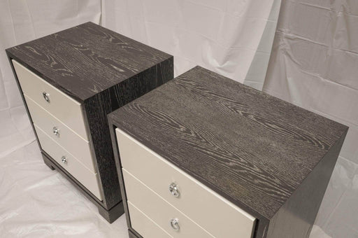 Bungalow 5 - Bungalow 5 Grey and White Woodgrain Side Tables with Storage - Shop Lendy