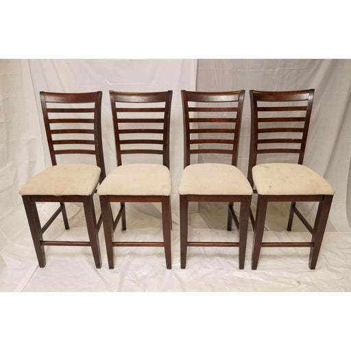 Shop Lendy - Counter Height Cherry ladder-back dining chairs - Shop Lendy
