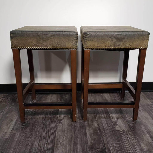 Shop Lendy - Faux-Alligator skin Bar Stools - Shop Lendy