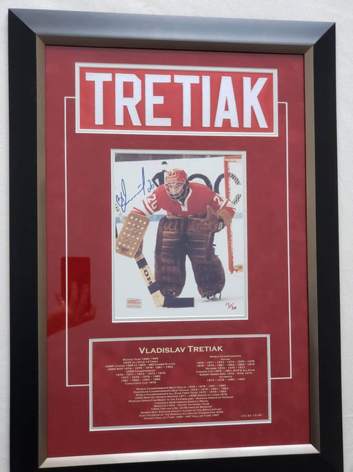 Shop Lendy - Framed Namebar and autographed photo - Vladislav Tretiak - Shop Lendy