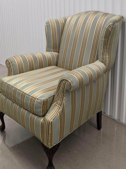 Shop Lendy - Gold Striped Lounge Chair - Shop Lendy