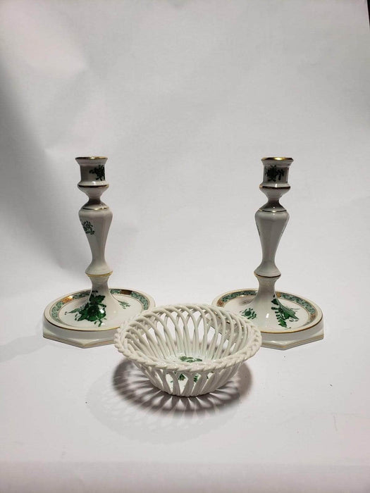 Shop Lendy - Herend Porcelain Plate and Candlestick - Shop Lendy