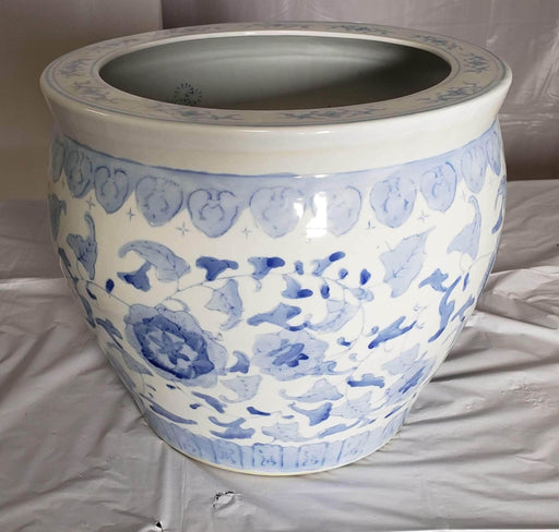 Shop Lendy - Large Chinese Blue and White Porcelain Fish Koi Bowl / Planter - Shop Lendy