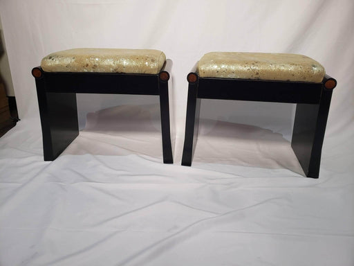 Shop Lendy - Pair of Golden Fabric Stools - Shop Lendy