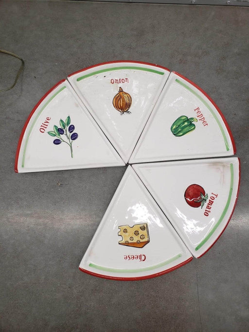 Shop Lendy - Pizza Pie Slice Dishes (Missing 1 piece) - Shop Lendy