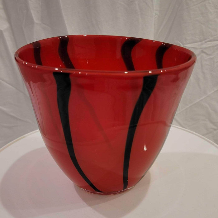 Shop Lendy Home Decor Bold Red and Black Vase
