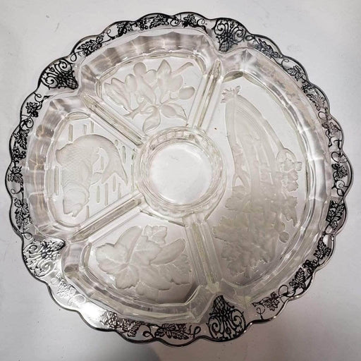 Shop Lendy Housewares Glass Serving Dish with Silver Overlay dip Detailing