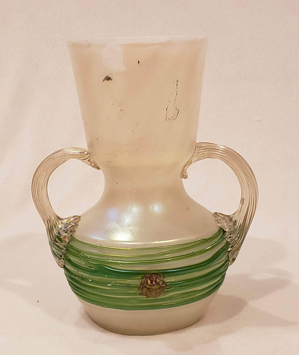 Shop Lendy Housewares Iridescent Green and White Antique Vase
