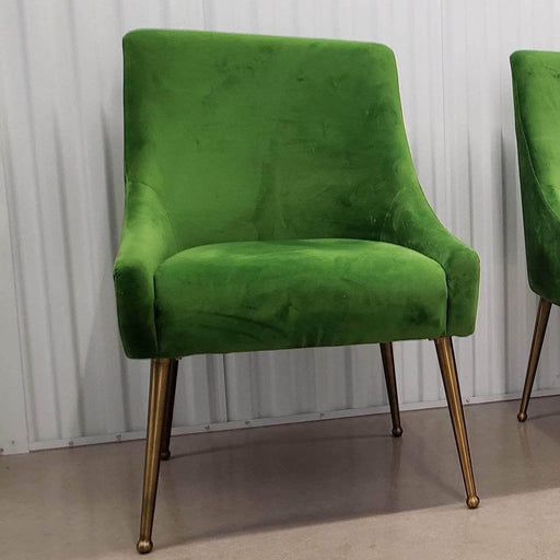 Shop Lendy - Velvet Upholstered Green Chair - Shop Lendy